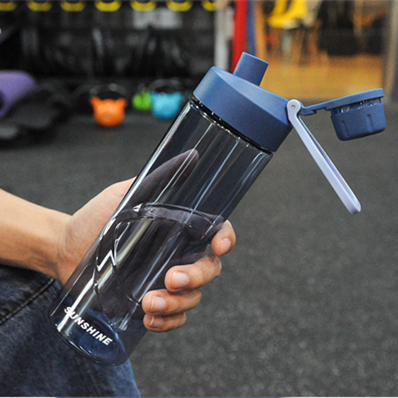 New Sports plastic water bottle  Leakproof portable kettle Travel Hiking Camping Office Gym kettle Student Kids water bottle Water Bottles    - AliExpress