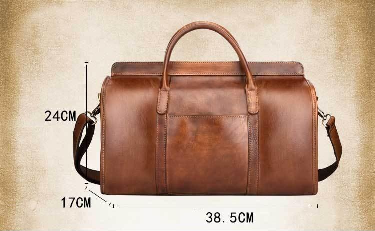 Hand Luggage Unisex Travel Bag Carry Packing Men Vintage Bag  Men Duffel Genuine Cow Leather Handbag LY48