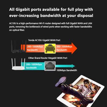 Tenda AC10 AC1200 Wireless WiFi Router Dual band 2.4G/5G Gigabit port 802.11AC with High-gain Antennas App