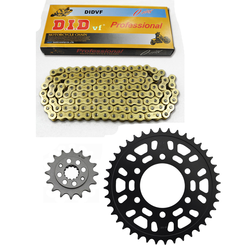 MOTORCYCLE 520 CHAIN Front & Rear SPROCKET Kit Set FOR Kawasaki Road ZXR400 H2,L1-L9 (ZX-4),R (ZX400J2) Japan 1 set motorcycle front