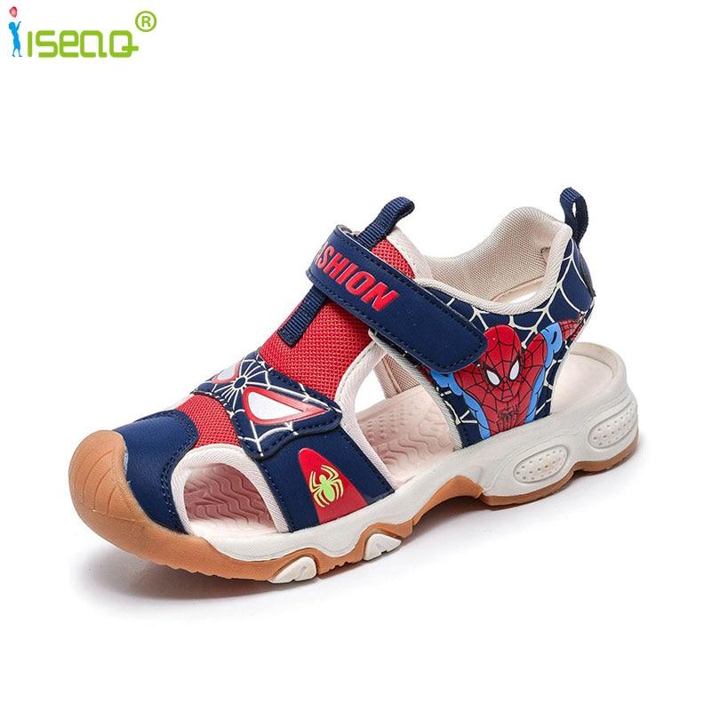 Summer child sandals boys,Children beach shoes,Kids spiderman shoes for boy,Casual flat shoes,fashion cut-outs child sandal