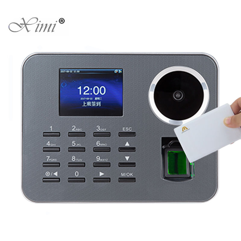 Biometric Fingerprint Time Attendance With 13.56MHZ MF Card Reader IClock360-P Palm Employee Attendance Time Clock Time Recorder