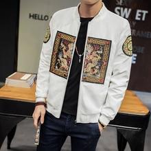 Spring Autumn Bomber Jacket Men 2020 New Fashion Chinese Long Pao Jackets Men Slim Fit Casual Mens Coats Windbreaker 5XL M Sale