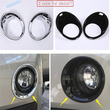 Lapetus Car Styling Front Bumper Fog Lights Lamp Frame Ring Cover Trim Fit For BMW X1 F48 2016 2017 2018 2019 ABS Chrome / Black