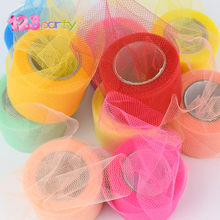 22M Colorful Shiny Crystal Tulle Roll Organza Sheer Gauze DIY Girls Tutu Skirt Gift Wedding Party Decor Baby Shower Decor Supply(China)