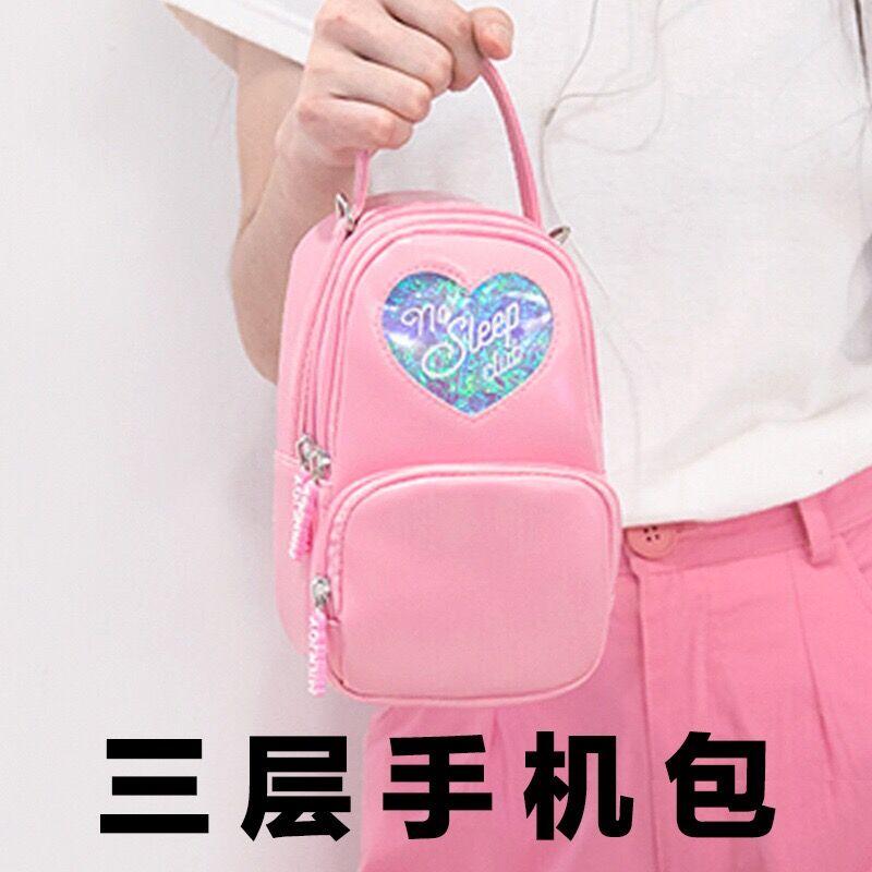 """/""""No Sleep Club/"""" Harajuku Crossbody Purse Kawaii Cute Purple Mini Bag Teen"""