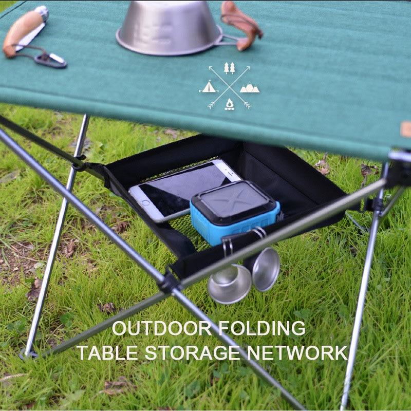 Outdoor Folding Table Storage Hanging Basket Camping Bag Finishing Net Wild Rack Picnic Camping Storage Mesh Bag