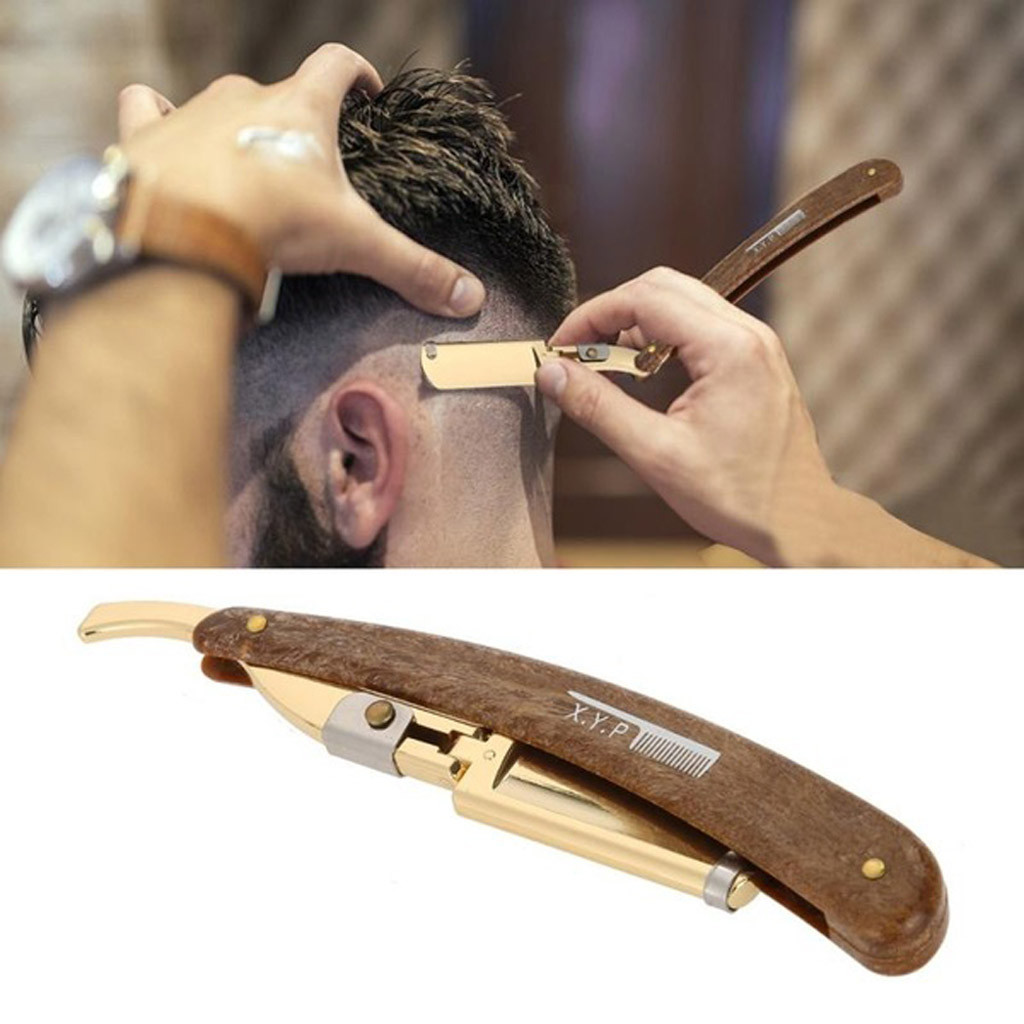 Manual Shaver Folding Straight Razor Stainless Steel Beard Shaver Hair Remover Mens Convenience Tools Portable High Quality
