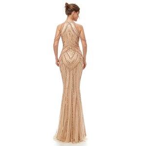 Image 2 - Женское вечернее платье в пол, элегантное роскошное длинное платье Русалка из фатина, вечерние платья в арабском стиле для выпускного вечера, WT5404
