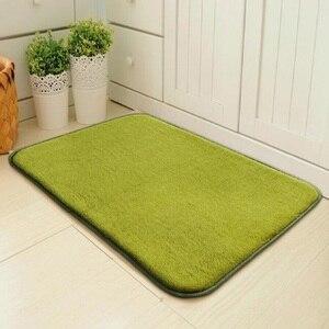Image 3 - Simples e moderno tapete de entrada da porta do assoalho tapete da porta quarto foyer absorvente tapete do banheiro cozinha