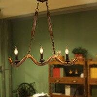 Nordic LOFT Rural Scandinavian Designer Lamps Extreme Simplicity Retro Personality Twisted Hemp Rope American Rustic Chandeliers