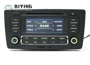 Image 4 - Uso para skoda pq octavia rádio yeti stereo rcn210 mp3 aux cd player