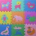 Strass 10 pçs/set de desenvolvimento de rastreamento de animais de quebra-cabeça almofada de espuma tapete EVA para jogos