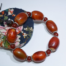 Jade Bracelet Drop Shipping Luck Amulet Natural Bucket Bead Red Agate Bracelets For Women And Men Gifts