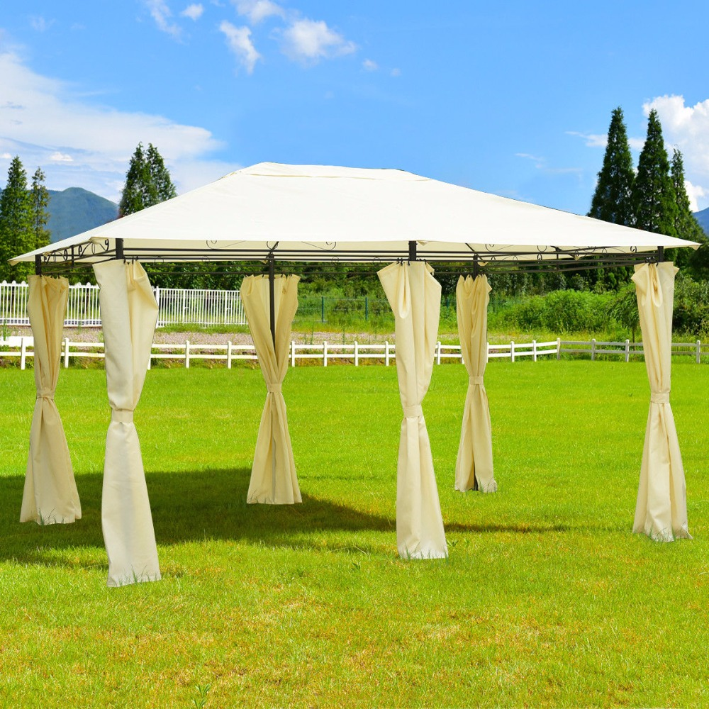 Giantex 13''x 10''Gazebo Canopy Shelter Patio Party Tent Outdoor Awning W/Side Walls Outdoor Furniture OP3513