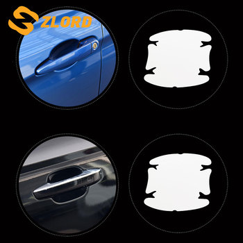 4Pcs/Lot Car Handle Protection Film Car Exterior Transparent Sticker for Ford Fiesta Ecosport Focus 2 3 4 MK2 MK3 MK4 Ka Mondeo image