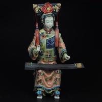 Best Christmas gift!! High:11.9 inch Collection Chinese handmade ceramic Statue/Palace Ladies about the Qing Dynasty Sculpture