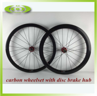 700c carbon disc brake wheels 50mm road wheelset clincher with D711SB/D722SB disc hubs for 6 bolts disc braking system use