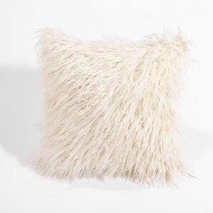 Image 3 - CAMMITEVER シミュレーション偽毛皮スエード高級クッションカバー卸売装飾的なスロー枕ソファ車の椅子オフィスホテル