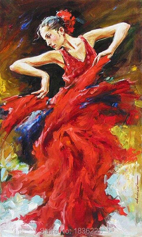 Ручная роспись холст картины маслом Современная Африканская женщина абстрактные картины маслом рисунок африкаин танцор девушка настенный... - 6