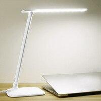 BREFILI 7W 30LEDs Table Lamp AC 220V Office Desk Lamp Dimmable Touch Sensor Folding Lamp for School Children Training Reading
