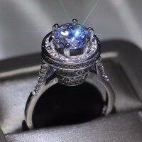 Бренд Виктории новый уникальный дизайн роскошь ювелирные изделия 925 Серебряная круглой формы AAAAA CZ вечерние женские свадебные проложить па