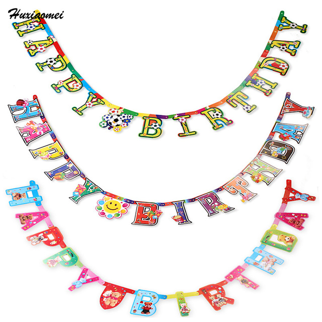 Huxiaomei different patterns of happy birthday letters funny happy huxiaomei different patterns of happy birthday letters funny happy birthday banner letters shaped kids birthdays party spiritdancerdesigns Image collections