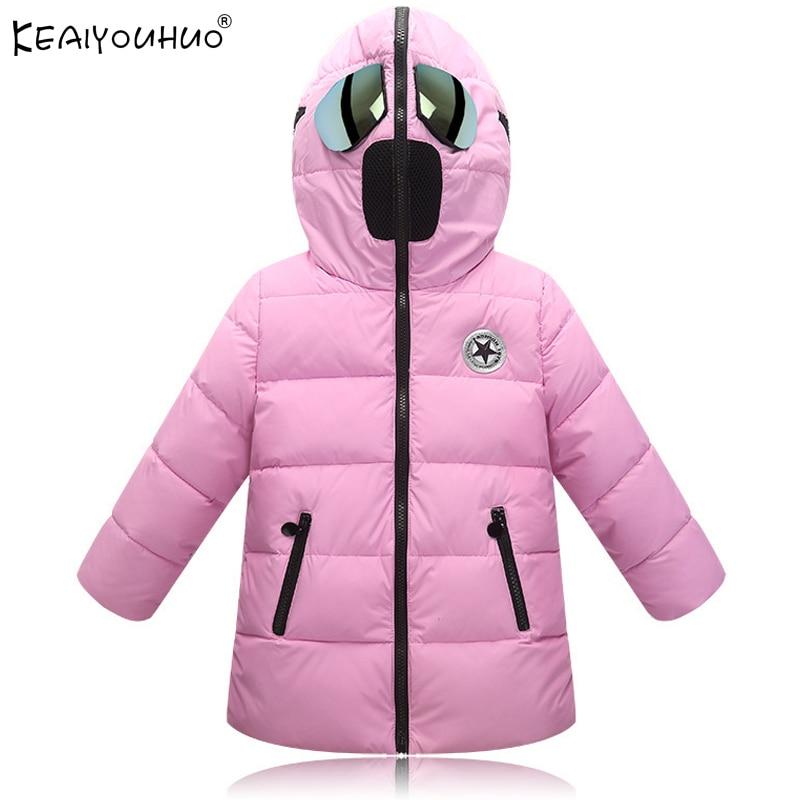 2017 Girls Winter Coats Fashion Cartoon Girls Jackets Children Clothing Girls Clothes Cotton Warm Down Jacket