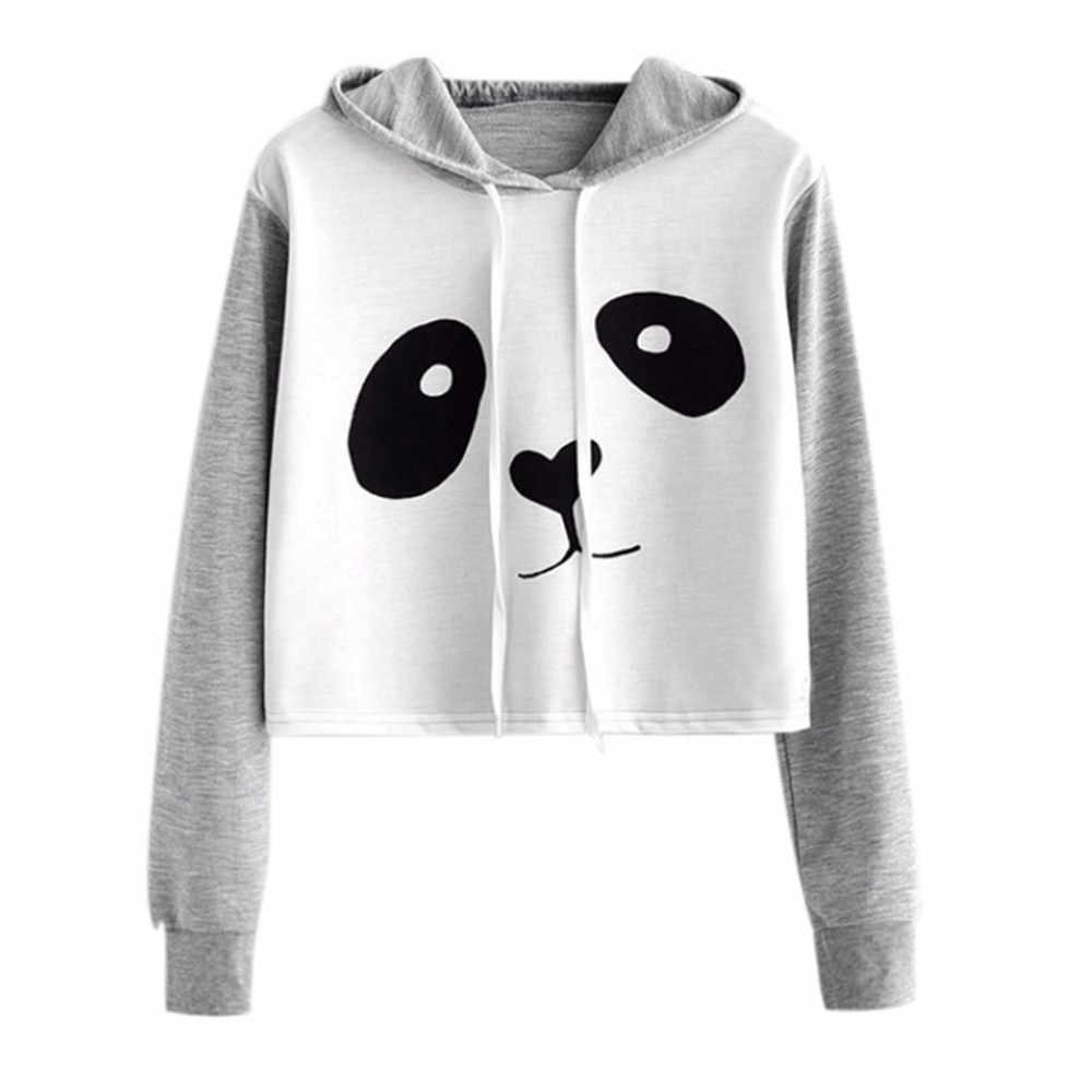 a945c5885 2019 fashion casual hoodie sweatshirt women jacket hoody cute Girl Print  panda ladies brand warm Ear