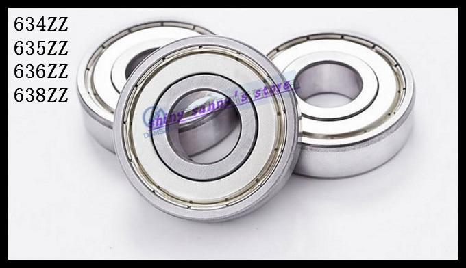10pcs 638ZZ 8x28x9mm ABEC1 Thin-wall Shielded Deep Groove Ball Bearing