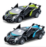 Children's remote control toy 1:20 five way remote control car One button open wireless remote control car Sports car model