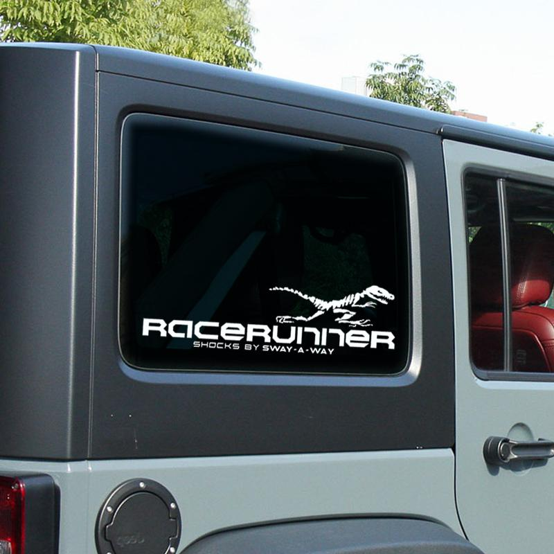 Dinosaur Pattern decoration racerunner car styling stickers and decals for JEEP/BENZ/FORD/BMW/AUDI and so on,reflective vinyl