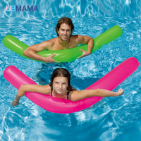 2PCS Set 180cm Inflatable Floating Tube Island Water Pool Floats Adults Kids Summer Swimming Party Fun