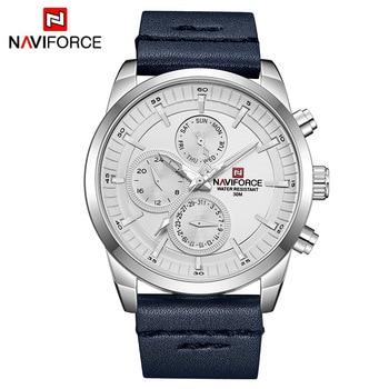 Mens Watches NAVIFORCE Top Brand Luxury Waterproof 24 hour Date Quartz Watch Man Fashion Leather Sport Wrist Watch Men Clock 11