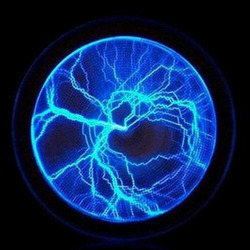 6 blau Lumin Festplatte Plasma Platte Blitz Lampe Urlaub Disco Party Decor