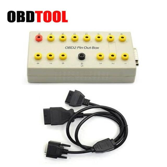 New Price Professional OBD2 Breakout Box Car OBD OBDII Protocol Detector Break Pin Out Box OBD2 Diagnostic Connector Detector Free Ship