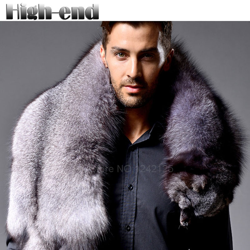 Men winter High-end warm outdoor fox fur scarf whole full leather luxury natural silver blue fox fur scarves collar scarf shawlMen winter High-end warm outdoor fox fur scarf whole full leather luxury natural silver blue fox fur scarves collar scarf shawl