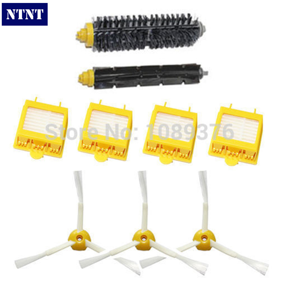 NTNT Free Post Shipping New Brush + 4x Filter 3 armed Side Kit for iRobot Roomba 700 Series 760 770 780 ntnt free post new 50x side brush 3 armed for irobot roomba 500 600 700 series 550 560 630 650 760
