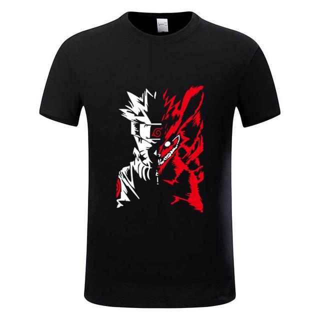 Naruto Akatsuki Logo Pattern Itachi Uchiha Anime T-shirts