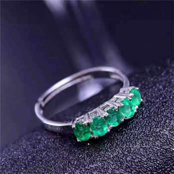 Emerald ring Natural real emerald 3mm* 4mm 925 sterling silver Free shipping gems For men or women rings - DISCOUNT ITEM  20 OFF Jewelry & Accessories