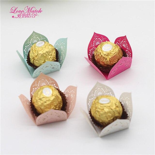 Love Match 50pcs Laser Cut Candy Box Bar Wedding Favors And Gifts
