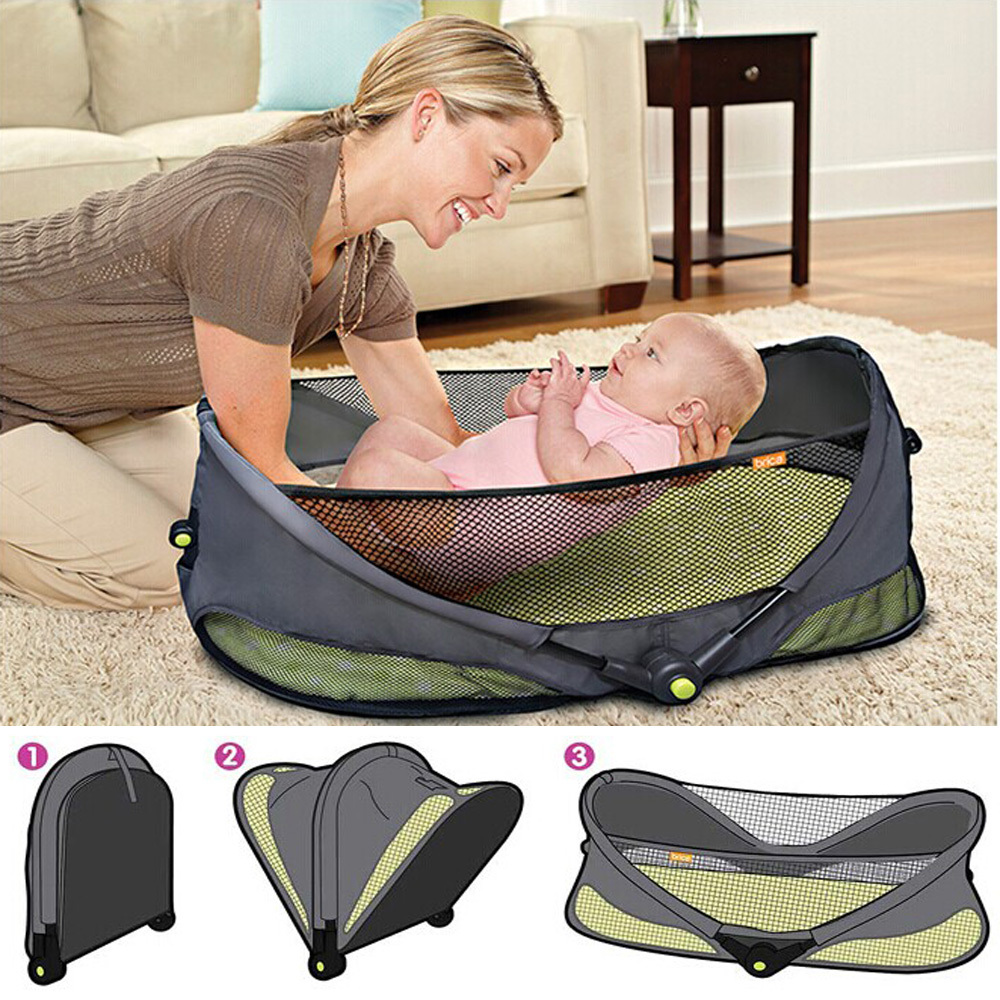 buy fashion portable baby bed crib. Black Bedroom Furniture Sets. Home Design Ideas