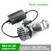 H4 60W LED Bixenon Projector Lens Car Styling High Low Beam For Car Headlamp Retrofit Car