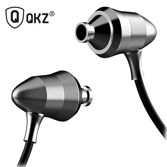 QKZ X6 Наушники-Вкладыши Металл Версия Профессиональное Качество Звука Тяжелый Бас Гарнитура Д Чувство Линейный HIFI Лихорадка Затычки Для Ушей