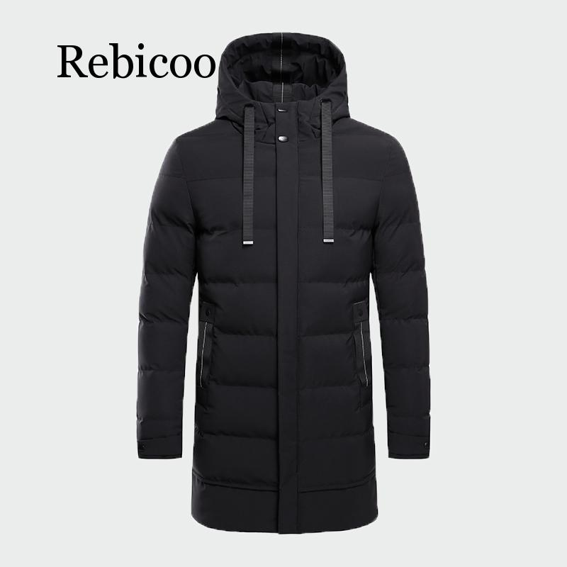 2019 New Winter Fashion Jacket Men Winter Warm jackets Young Men&#39s Cotton Coats Thickened Hoodied Warm Parkas(China)