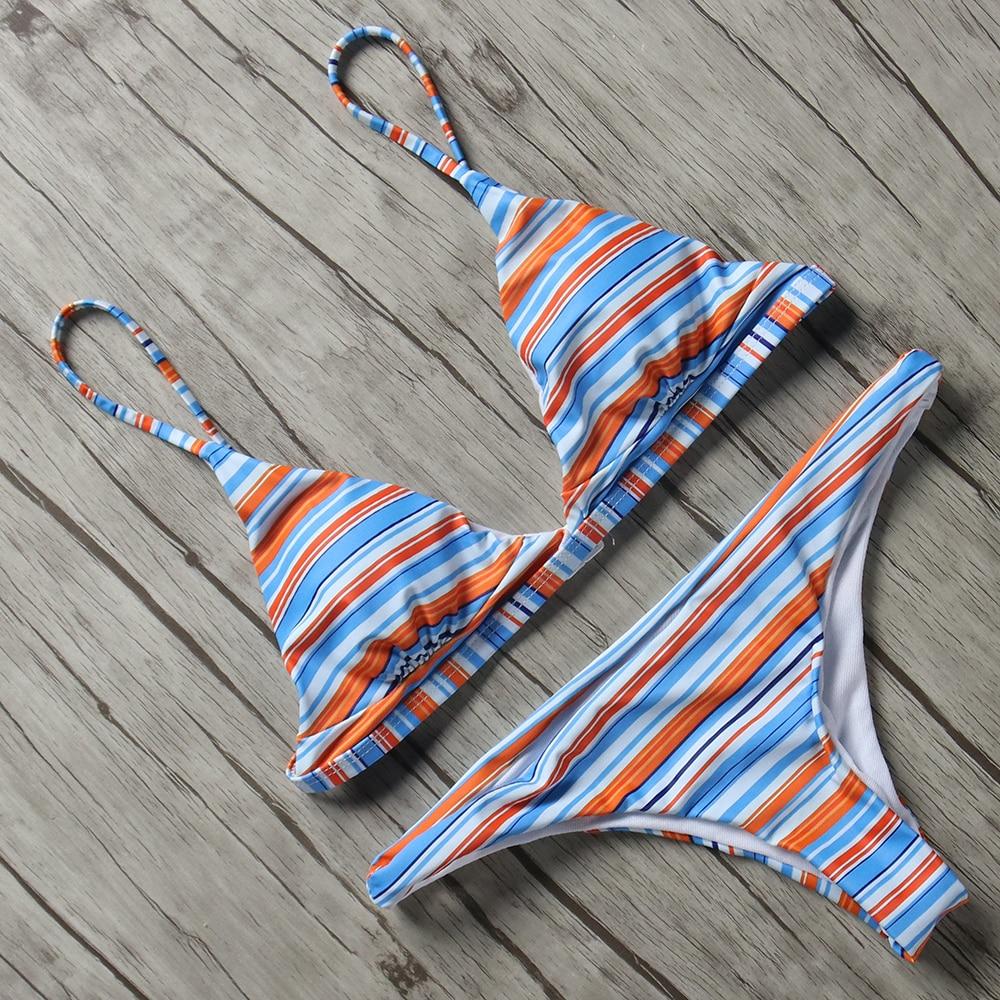 Women Swimwear Bikini-Set Micro Biquini Maillot-De-Bain Sexy Hip Big Backless Hot-Sale