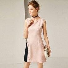 Sleeveless o-neck a line slim party dress 2018 new women autumn winter basic mini