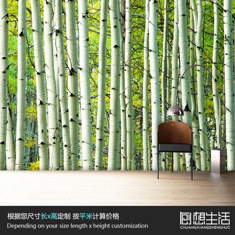 Green Forest Wallpaper Modern For Bedroom Living Room TV