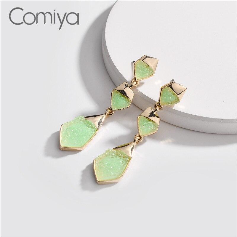 Elegant Dangle Earrings For Women Geometric Shape Zinc Alloy Ol Lady Accessories Big Earring Aretes De Mujer Aliexpress Drop Earrings Jewelry & Accessories