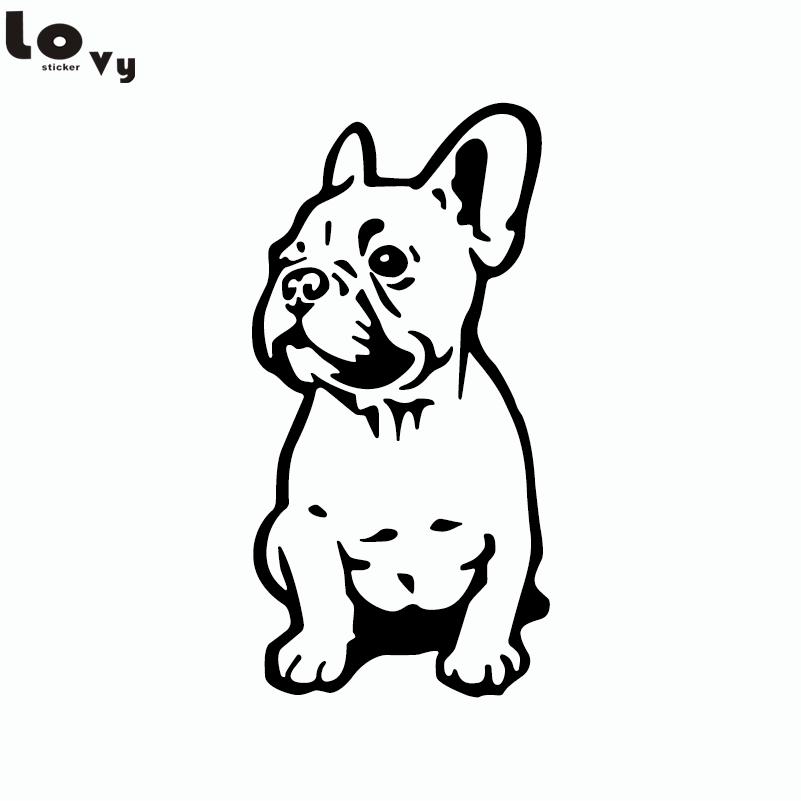 French Bulldog Silhouette Car Sticker Cute Cartoon Pet Dog